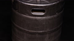Stock Video Footage of Beer Keg - Party Culture Metal Canister full of craft brew