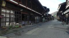Historically Preserved Street in Naraijuku, Japan - stock footage