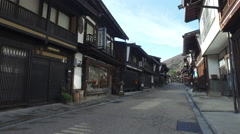 Historically Preserved Street in Naraijuku, Japan Stock Footage