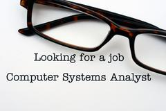 Looking for a job Computer System Analyst - stock photo