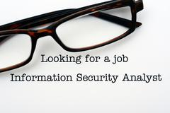 Looking for a job Information Security Analyst - stock photo