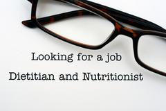 Looking for a job Dietitian and nutritionist Stock Photos