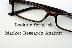 Looking for a job Market Research Analyst - stock photo