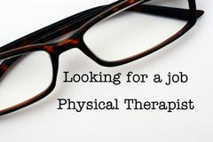 Looking for a job Physical Therapist - stock photo