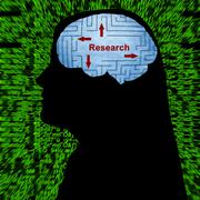 Research in mind - stock photo