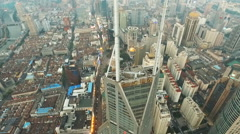 Amazing Aerial Views of Shanghai - stock footage