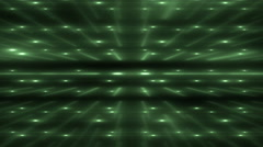 Green Flood Lights Disco Music Background. - stock footage