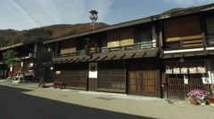 Historically Preserved Street in Naraijuku, Japan Stock Footage