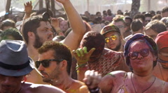 Crowd Dancing at Electronic Music Festival in Bahia, Brazil Stock Footage