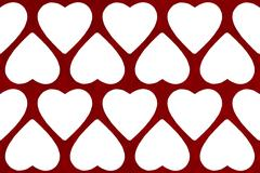 Valentines day abstract background with heart shape - stock illustration