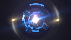 Stock Video Footage of Science Fiction Arc Reactor Style Background
