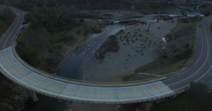 Horseshoe Bridge over the North Fork of the American River - stock footage