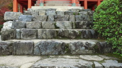 Garden at Daigoji Buddhist Temple in Kyoto, Japan Stock Footage