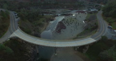 Flying from the Northern Fork of the American River Stock Footage