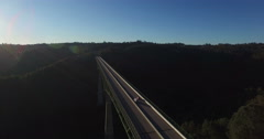 A View from above and from the East Side of the Foresthill Bridge - stock footage