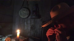 Late Night Playing Harmonica by candle light Arkistovideo