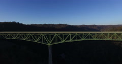 Rising Up from the Middle of the Foresthill Bridge Stock Footage