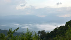 Morning mist at Khao Panoen Thung, Timelapse Video Stock Footage