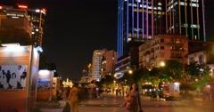 HO CHI MINH / SAIGON, VIETNAM - 2016: Nguyen Hue walking street city night Stock Footage
