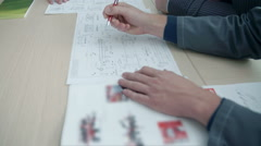 Writing down the observations - stock footage