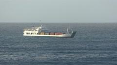 Light cargo ship Stock Footage