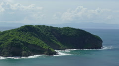 Jungle coastline of San Juan del Sur from above Stock Footage