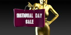 Stock Illustration of National Day Sale