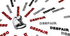 Despair - stock illustration
