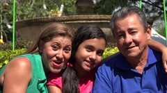 Family at Park During Summer Stock Footage