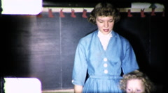 Pretty Young School Teacher and Students 1960s Vintage Film Home Movie 9186 Stock Footage