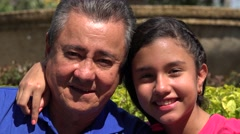 Happy Father and Daughter at Park Stock Footage