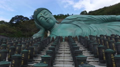 Giant Buddha Statue at Nanzoin in Japan Stock Footage