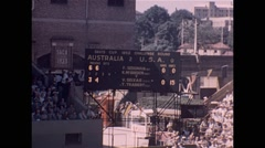 Davis Cup Tennis Adelaide 1952 Stock Footage