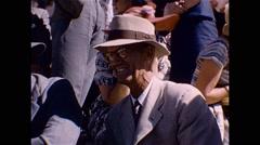Davis Cup Tennis Adelaide Australia 1952 - stock footage