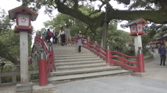 Bridge at Dazaifu Tenman-gū in Fukuoka, Japan Stock Footage