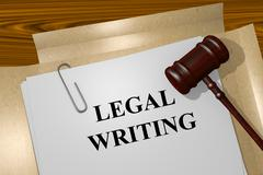 Legal Writing concept - stock illustration