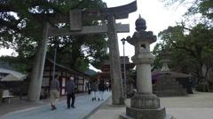 Torii Gate at Dazaifu Tenman-gū in Fukuoka, Japan Stock Footage