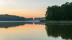 Timelapse with sunrise over beautiful polish lake. 4k timelapse Stock Footage