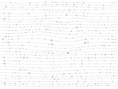 White lines dots gray background - stock illustration