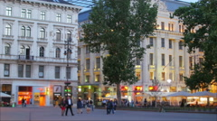 Hungarian downtown streets and apartments, Budapest, Hungary, 4k Stock Footage