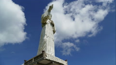 Christ of the Mercy statue, time lapse Stock Footage
