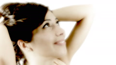 Vintage girl el smile future CU CC Stock Footage