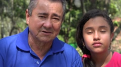 Father and Daughter Sad or Tired Stock Footage