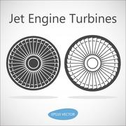 Stock Illustration of Jet Engine Turbine Front View