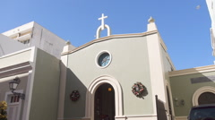 Protestant church in Christmas - Puerto Rico - stock footage