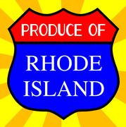 Produce Of Rhode Island Shield - stock illustration