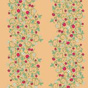 seamless vector pattern with strawberry, berry - stock illustration
