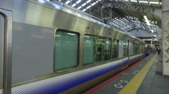 Train Departs from Tennoji Station in Japan Stock Footage
