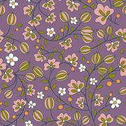 gooseberry seamless texture. vector pattern - stock illustration