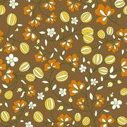 Gooseberry seamless texture. vector pattern Stock Illustration